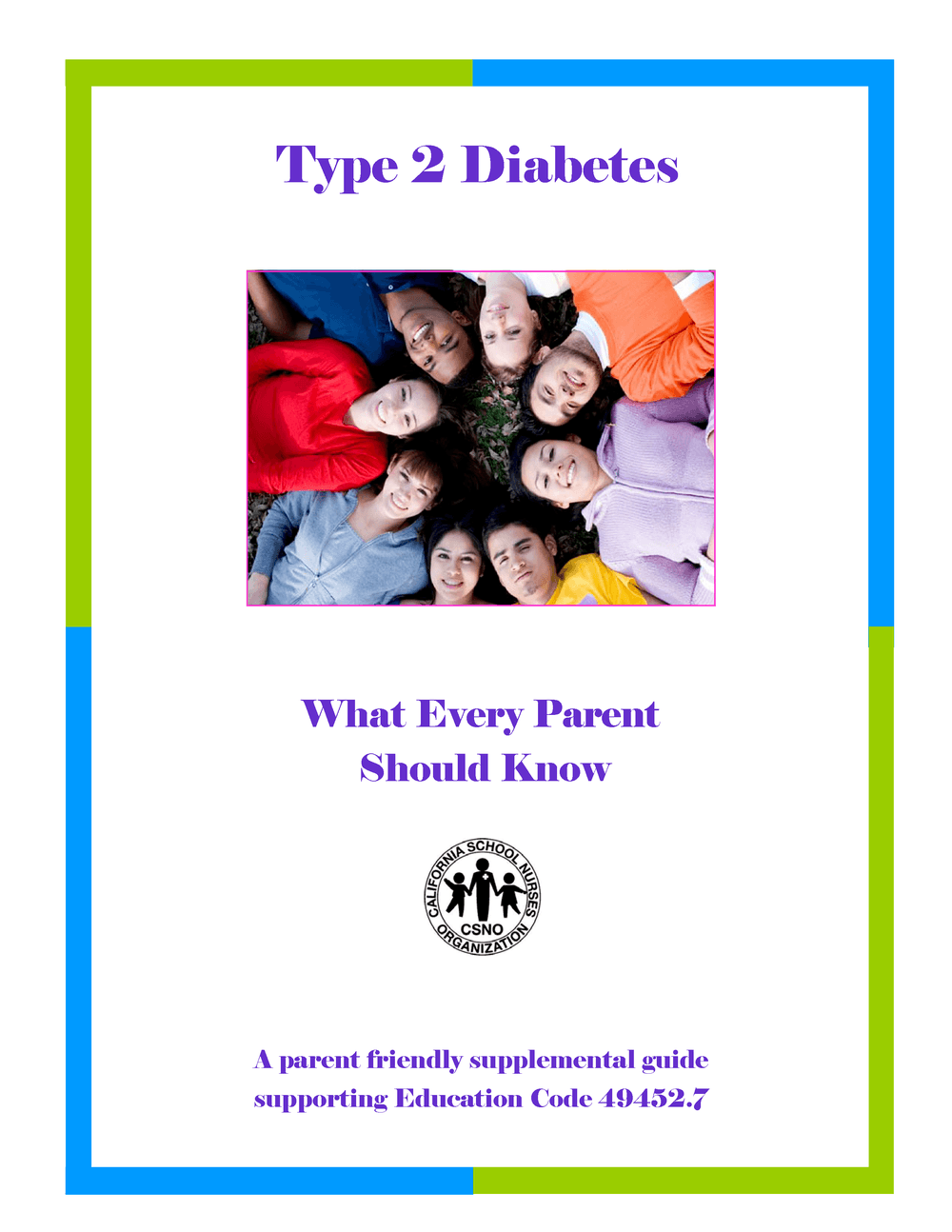 Type 2 Diabetes parent brochure