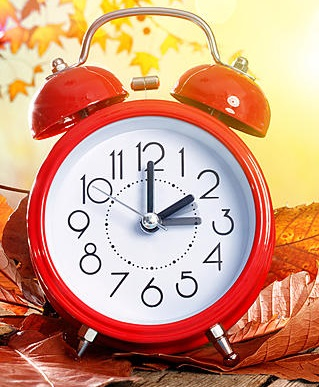clock with time set back one hour
